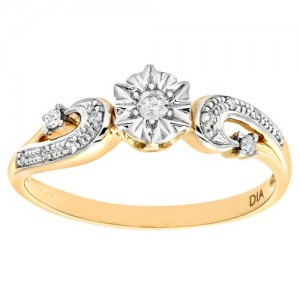 Bague diamant or