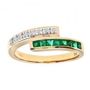 bague emeraude diamants