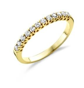 Bague or diamants